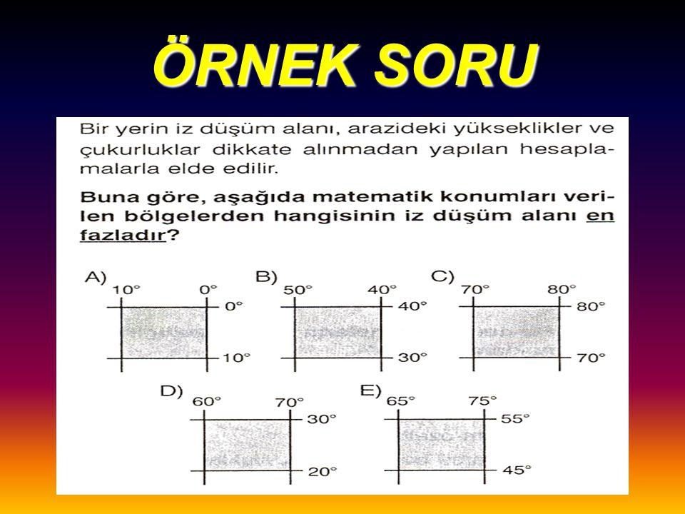NOT Marmara bölgesi'nde en azdır.