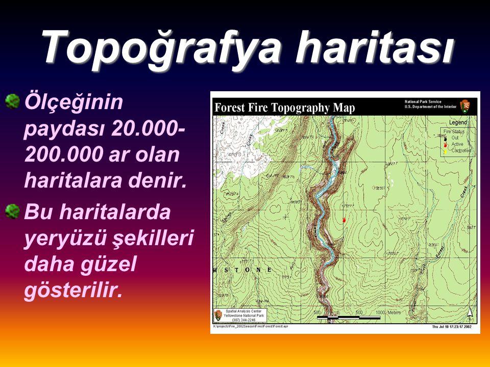 Planlar Ölçeğinin paydası 0-20.000 arasında olan haritalardır.