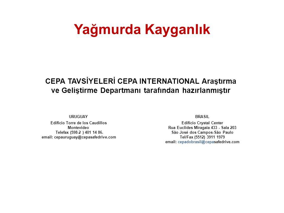 CEPA TAVSİYELERİ CEPA INTERNATIONAL Araştırma ve Geliştirme Departmanı tarafından hazırlanmıştır © 2000-2004 CEPA - All rights reserved. BRASIL Edifíc