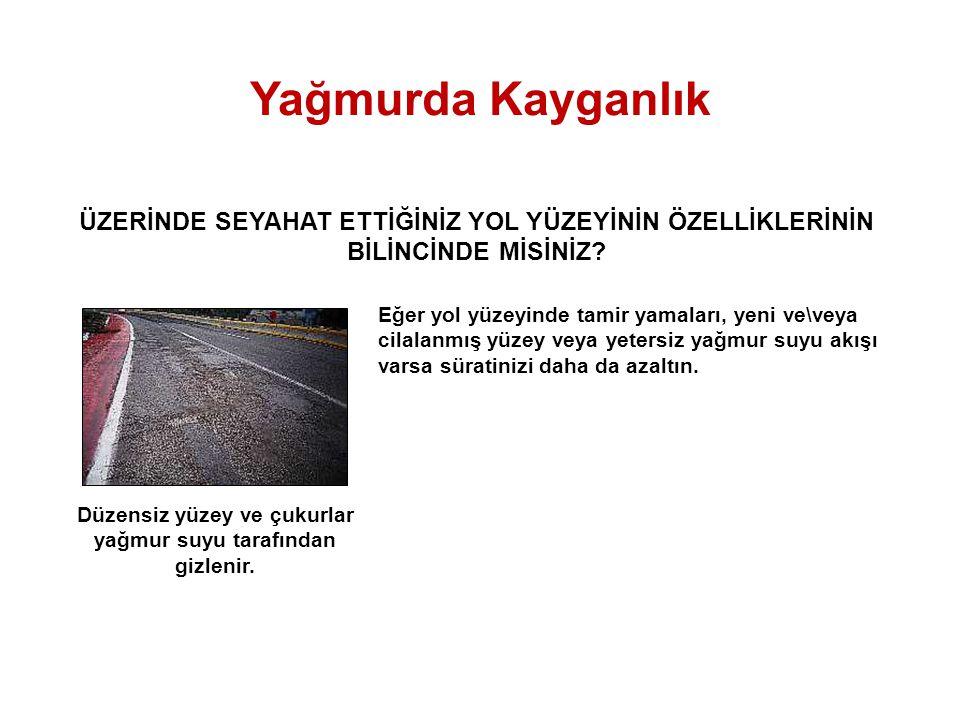 © 2000-2004 CEPA - All rights reserved. UYARI!! SOLLAMA, KAVŞAKLAR VE KÖPRÜLER Yağmurda Kayganlık