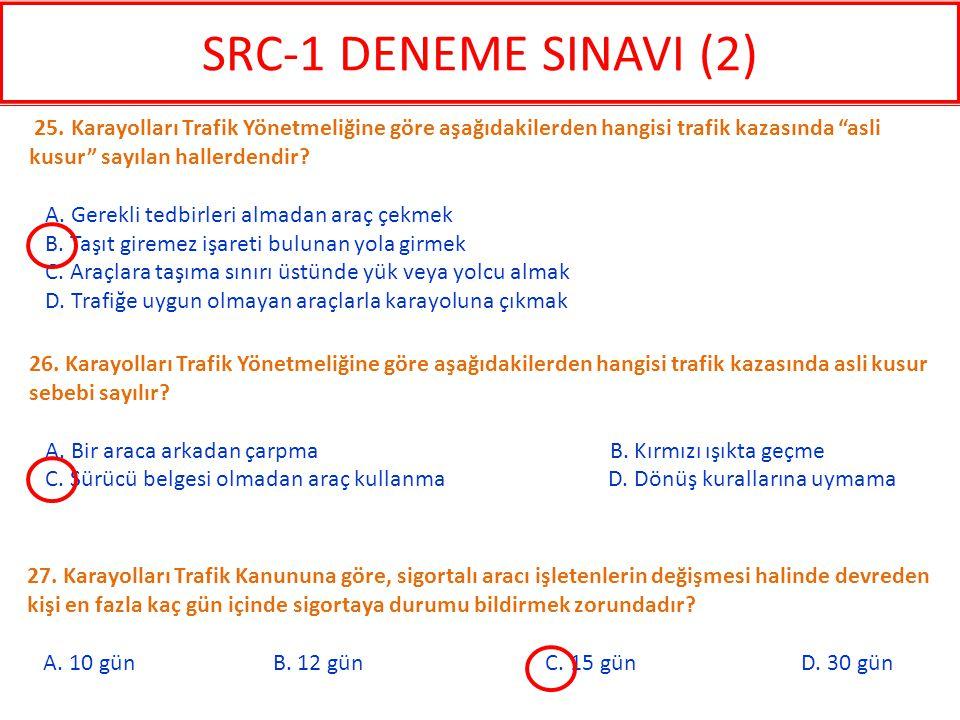 27. Karayolları Trafik Kanununa göre, sigortalı aracı işletenlerin değişmesi halinde devreden kişi en fazla kaç gün içinde sigortaya durumu bildirmek