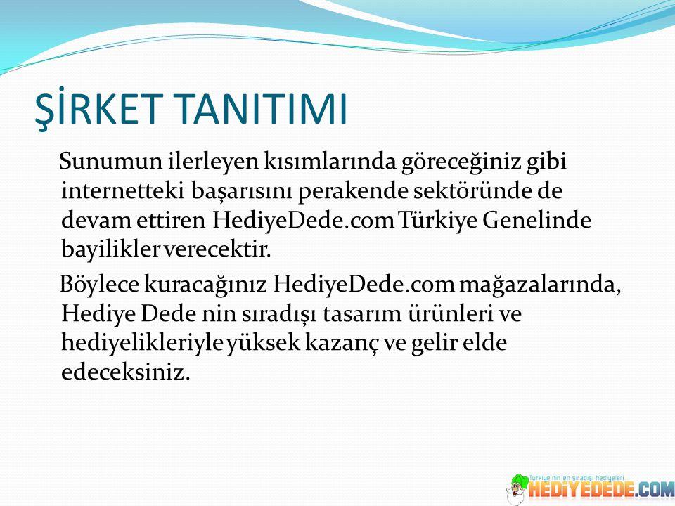 ŞİRKET TANITIMI Sunumun ilerleyen kısımlarında göreceğiniz gibi internetteki başarısını perakende sektöründe de devam ettiren HediyeDede.com Türkiye G
