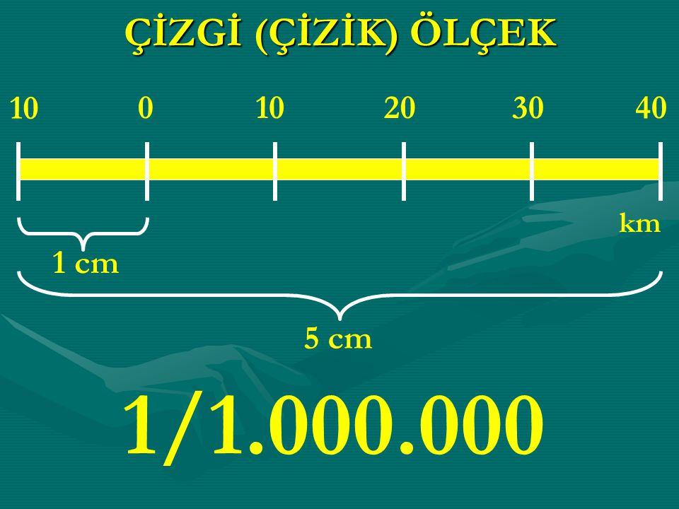 ÇİZGİ (ÇİZİK) ÖLÇEK 1 cm 5 cm 10 0 203040 km 1/1.000.000
