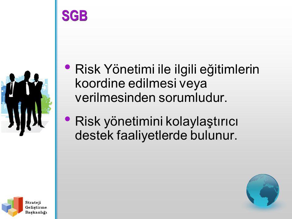 Risk Yönetimi ile ilgili eğitimlerin koordine edilmesi veya verilmesinden sorumludur. Risk yönetimini kolaylaştırıcı destek faaliyetlerde bulunur. SGB