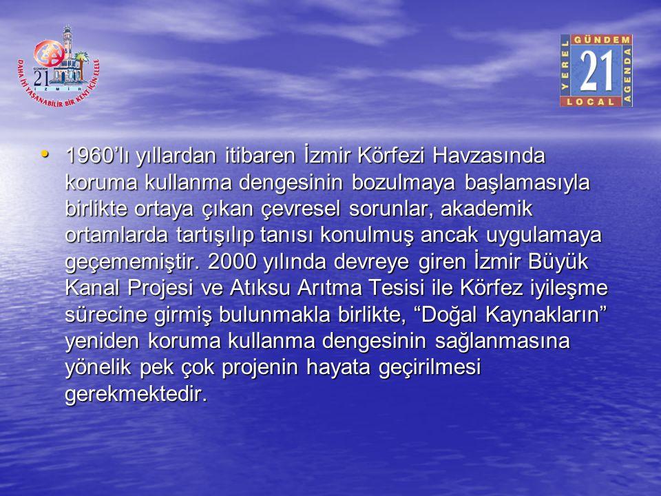 1960'lı yıllardan itibaren İzmir Körfezi Havzasında koruma kullanma dengesinin bozulmaya başlamasıyla birlikte ortaya çıkan çevresel sorunlar, akademi