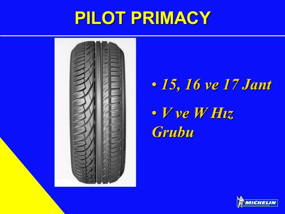 PILOT PRIMACY 15, 16 ve 17 Jant 15, 16 ve 17 Jant V ve W Hız Grubu V ve W Hız Grubu
