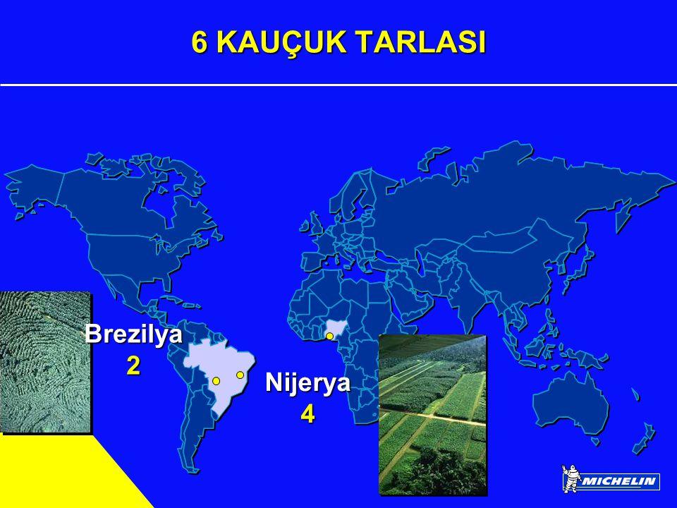 MICHELIN GÜNLÜK ÜRETİMİ 844,000 Lastik 61,000 İç Lastik 96,000 Jant 4 Milyon Km.