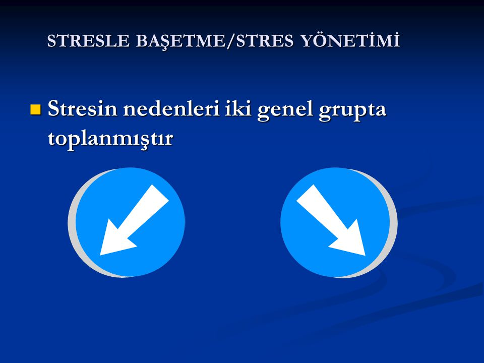 STRESLE BAŞETME/STRES YÖNETİMİ Stresin Stresin Belirtileri Nelerdir?