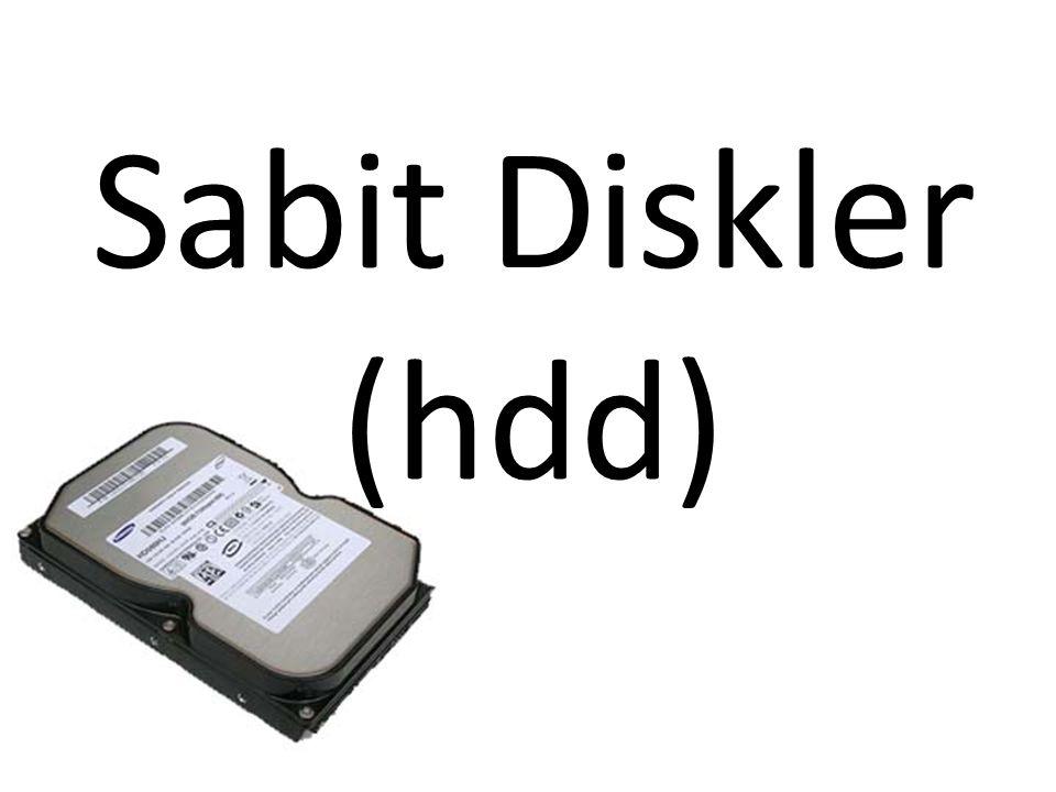 Sabit Diskler (hdd)