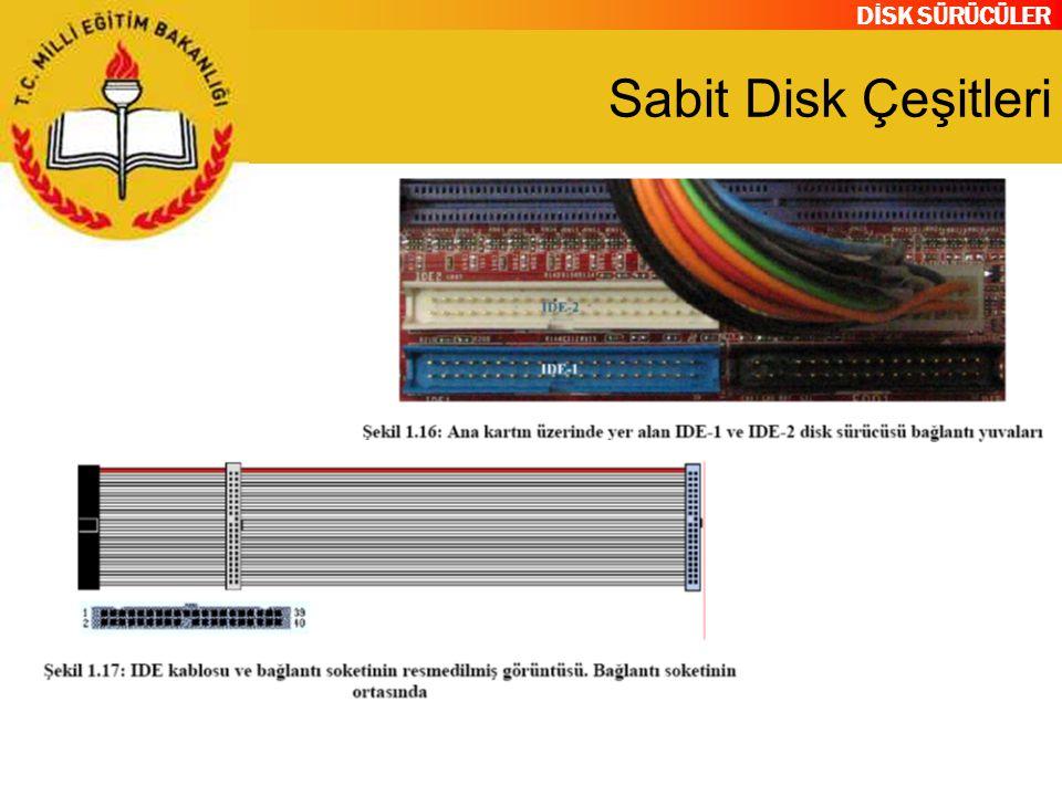 DİSK SÜRÜCÜLER Sabit Disk Çeşitleri
