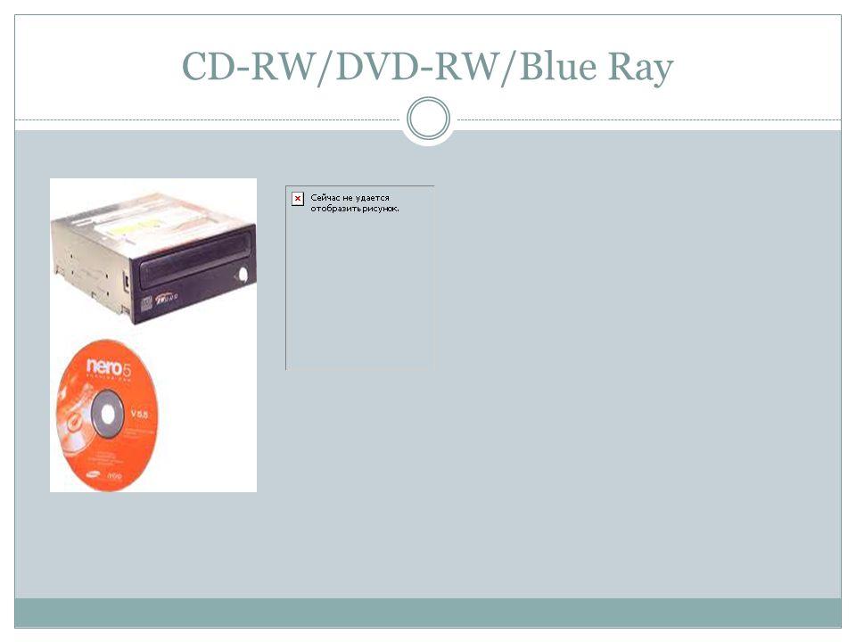 CD-RW/DVD-RW/Blue Ray