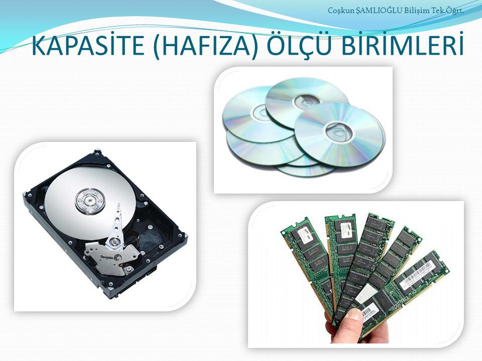 KAPASİTE (HAFIZA) ÖLÇÜ BİRİMLERİ Coşkun ŞAMLIOĞLU Bilişim Tek.Öğrt.