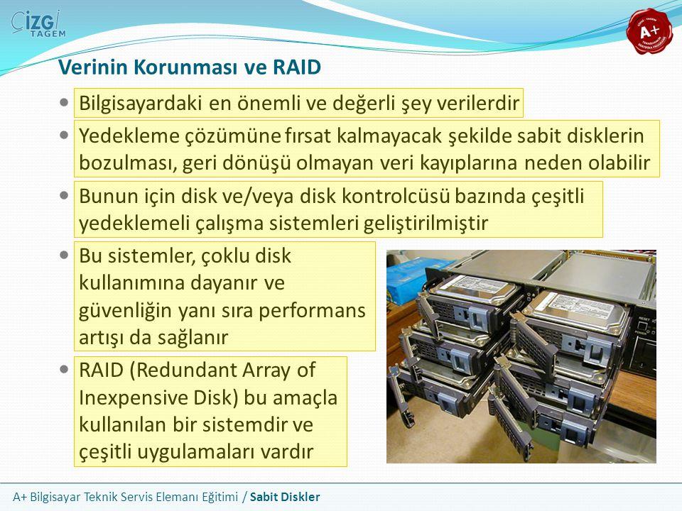A+ Bilgisayar Teknik Servis Elemanı Eğitimi / Sabit Diskler Verinin Korunması ve RAID Bilgisayardaki en önemli ve değerli şey verilerdir Yedekleme çöz