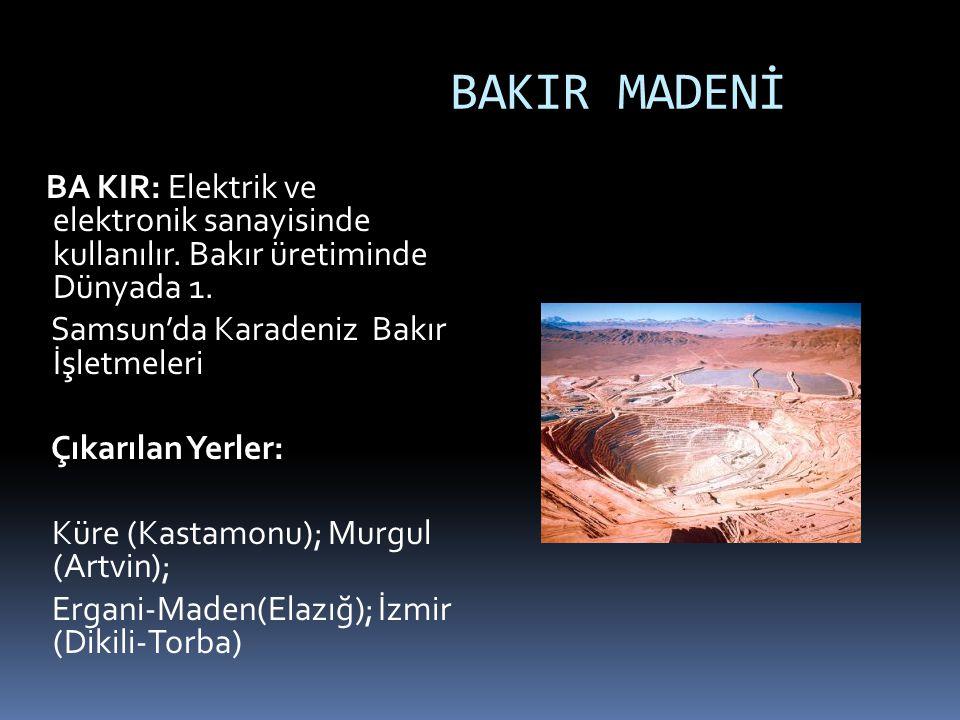 TUZ TUZ: Yemeklerde, kimya sanayiinde. Çıkarılan Yerler : Tuzgölü, İzmir Çamaltı, Çankırı