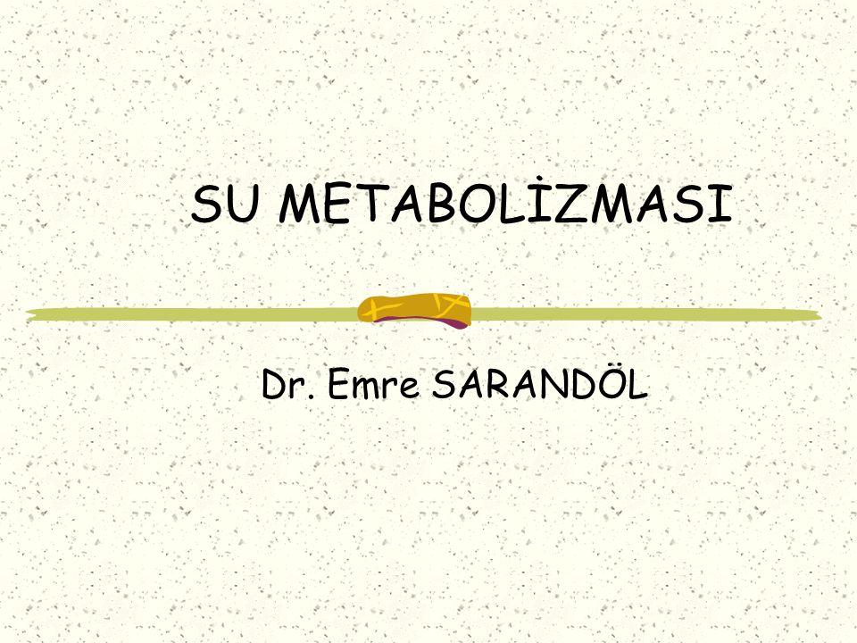 SU METABOLİZMASI Dr. Emre SARANDÖL