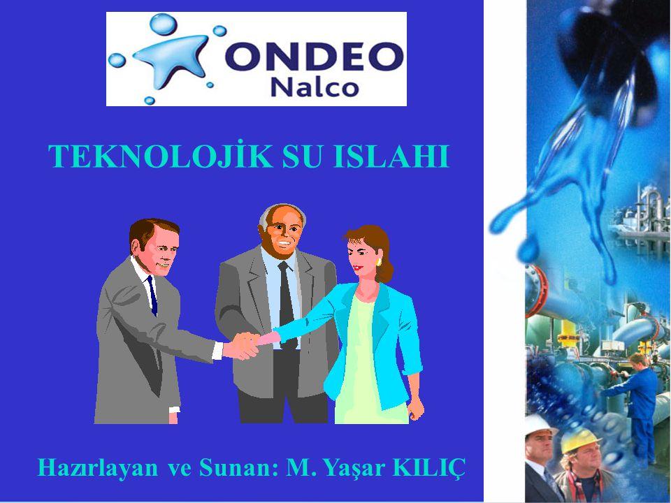 TEKNOLOJİK SU ISLAHI Hazırlayan ve Sunan: M. Yaşar KILIÇ