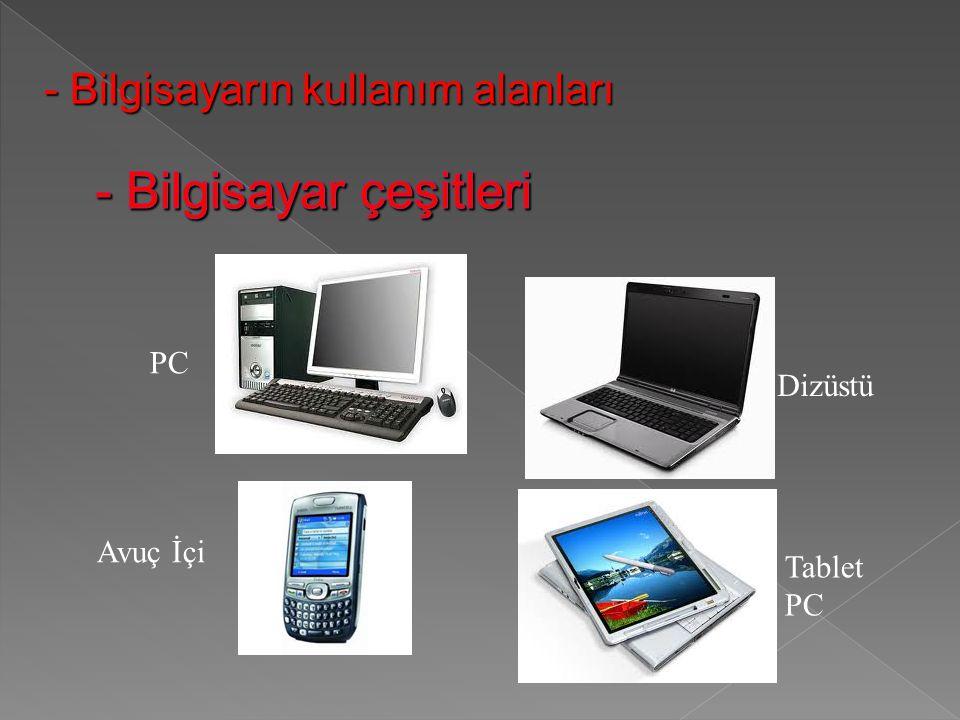 PC Avuç İçi Dizüstü Tablet PC - Bilgisayarın kullanım alanları