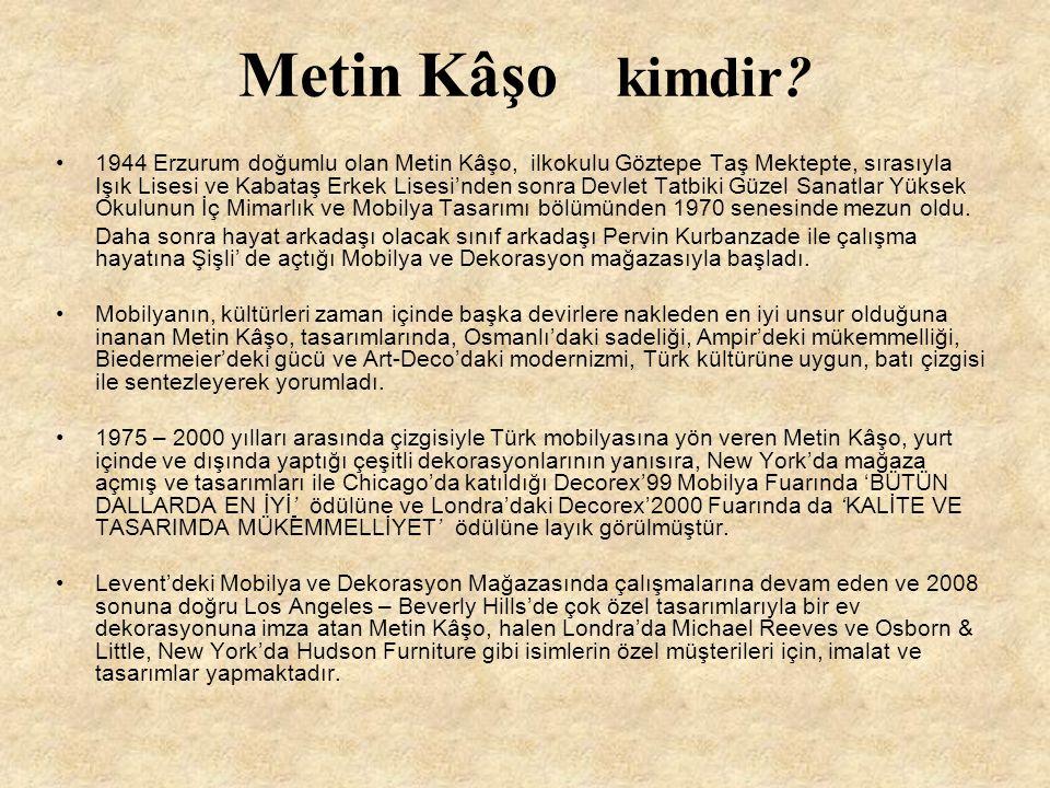 Metin Kâşo kimdir? 1944 Erzurum doğumlu olan Metin Kâşo, ilkokulu Göztepe Taş Mektepte, sırasıyla Işık Lisesi ve Kabataş Erkek Lisesi'nden sonra Devle