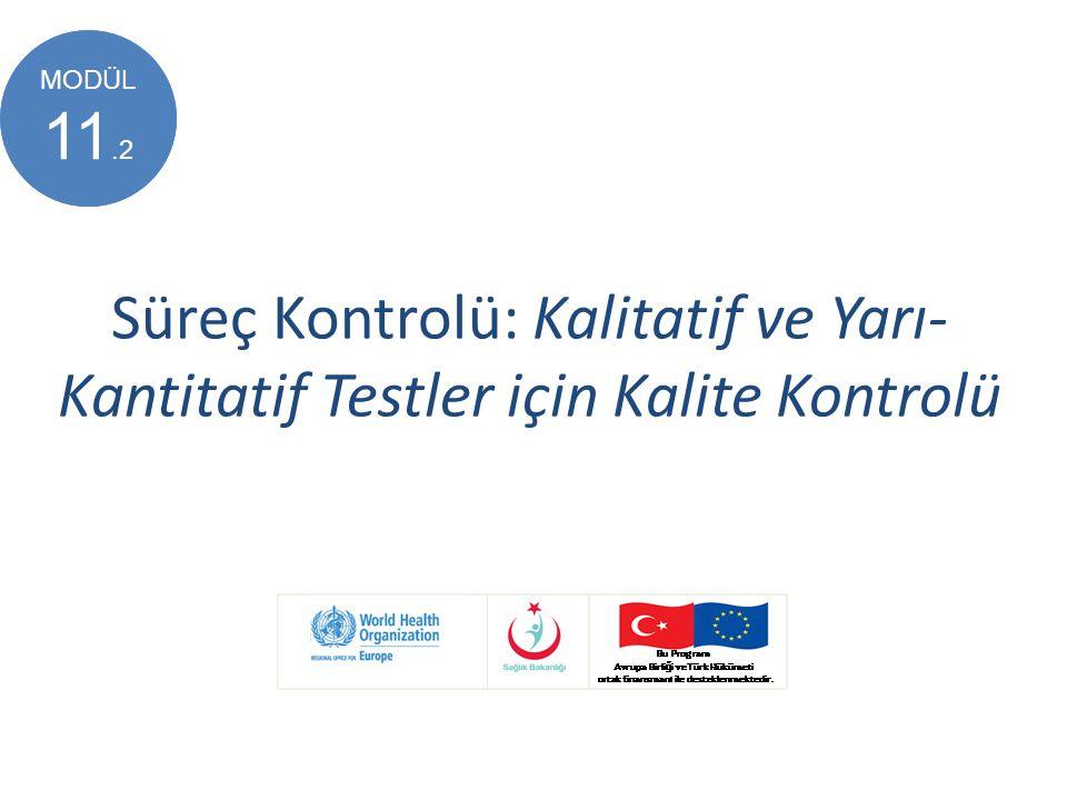 Süreç Kontrolü: Kalitatif ve Yarı- Kantitatif Testler için Kalite Kontrolü MODÜL 8 MODÜL 11.2