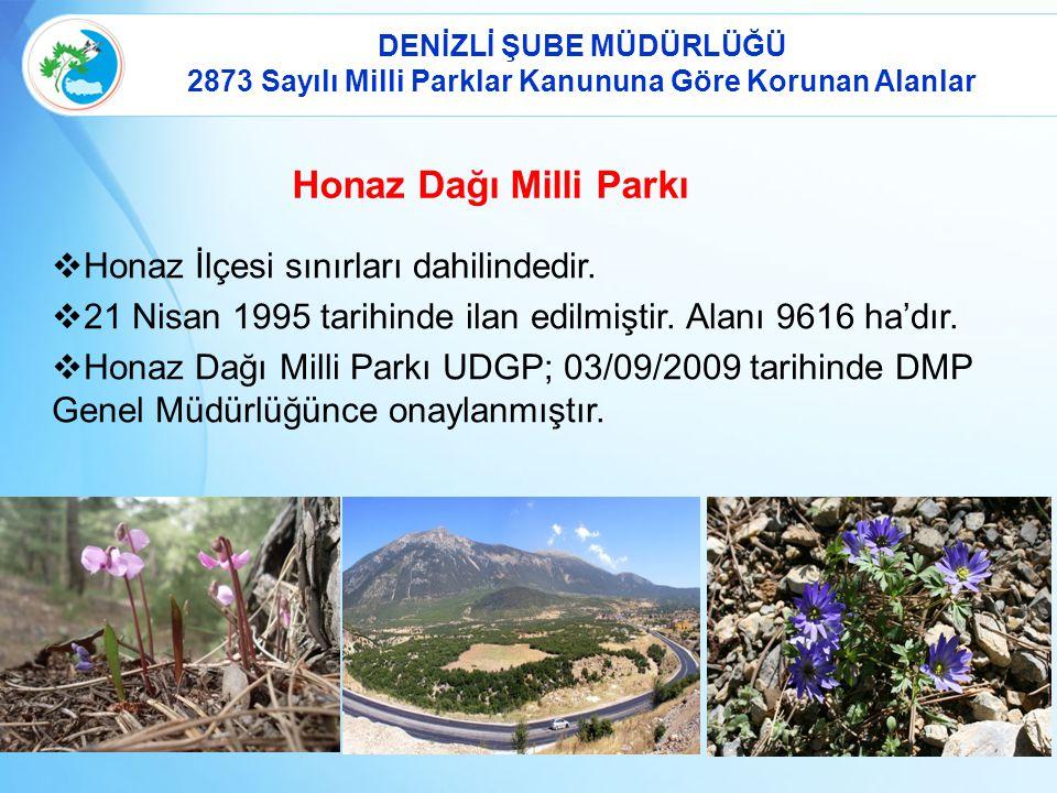 Honaz Dağı Milli Parkı  Honaz İlçesi sınırları dahilindedir.
