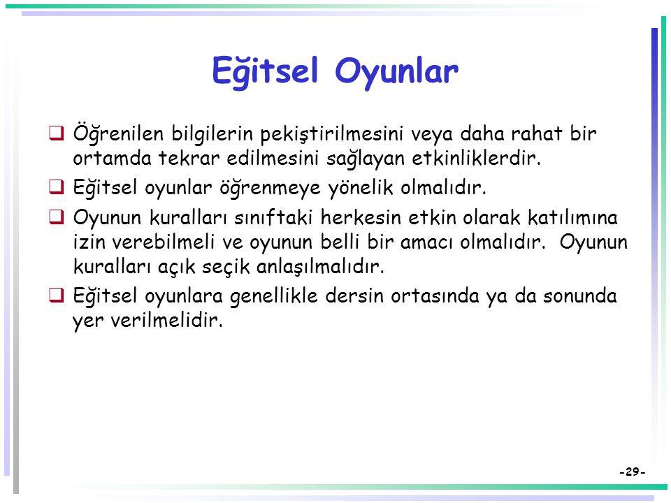 -28- Mikro Öğretim (4)  Sunuları yapacakların performanslarını değerlendirmek için Değerlendirme formları geliştirilmeli.