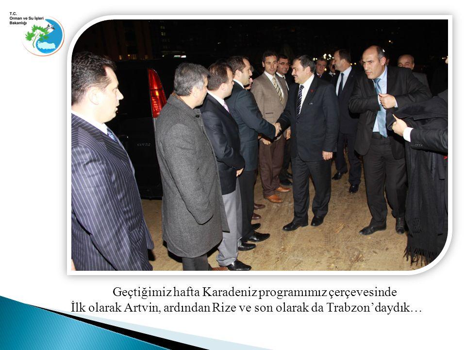 Geçtiğimiz hafta Karadeniz programımız çerçevesinde İlk olarak Artvin, ardından Rize ve son olarak da Trabzon'daydık…