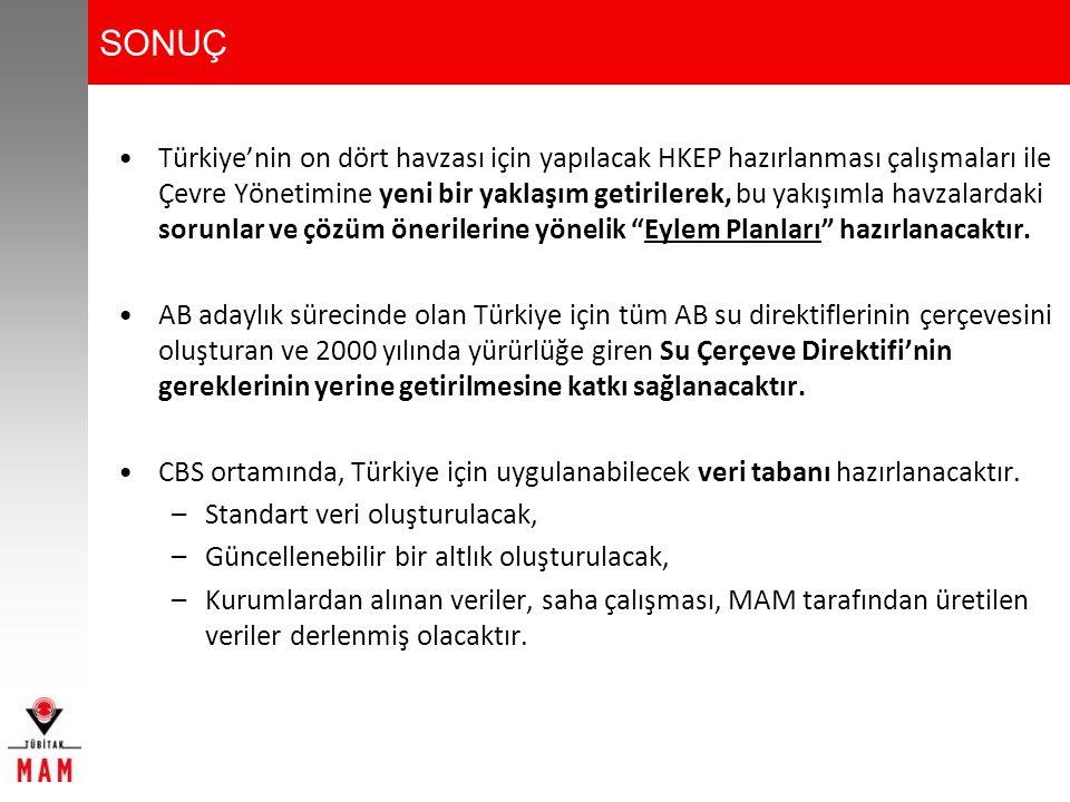 Türkiye'nin on dört havzası için yapılacak HKEP hazırlanması çalışmaları ile Çevre Yönetimine yeni bir yaklaşım getirilerek, bu yakışımla havzalardaki