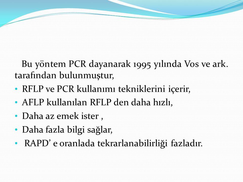 Bu yöntem PCR dayanarak 1995 yılında Vos ve ark. tarafından bulunmuştur, RFLP ve PCR kullanımı tekniklerini içerir, AFLP kullanılan RFLP den daha hızl