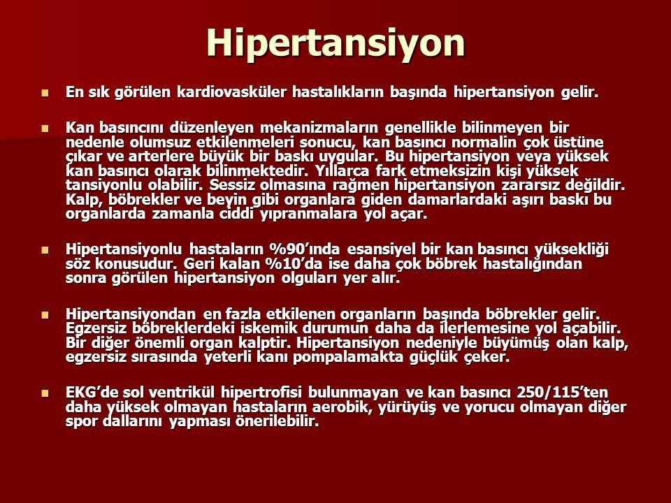 Hipertansiyon En sık görülen kardiovasküler hastalıkların başında hipertansiyon gelir. En sık görülen kardiovasküler hastalıkların başında hipertansiy