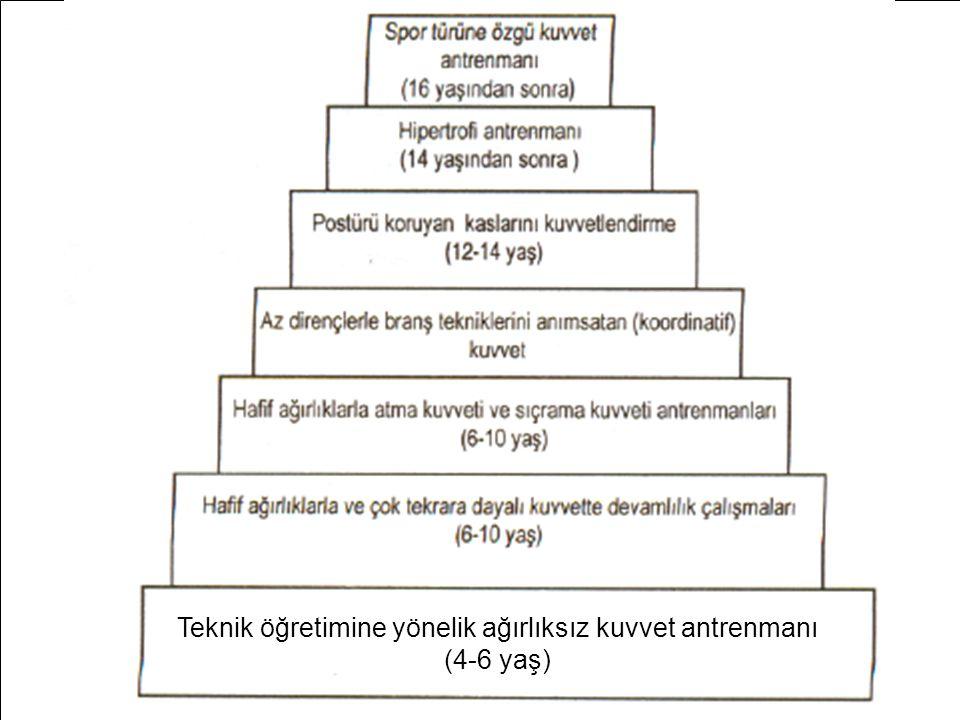 Teknik öğretimine yönelik ağırlıksız kuvvet antrenmanı (4-6 yaş)