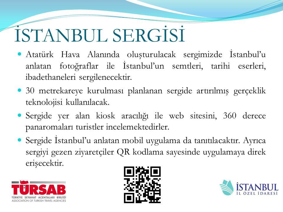İSTANBUL SERGİSİ Atatürk Hava Alanında oluşturulacak sergimizde İstanbul'u anlatan fotoğraflar ile İstanbul'un semtleri, tarihi eserleri, ibadethanele