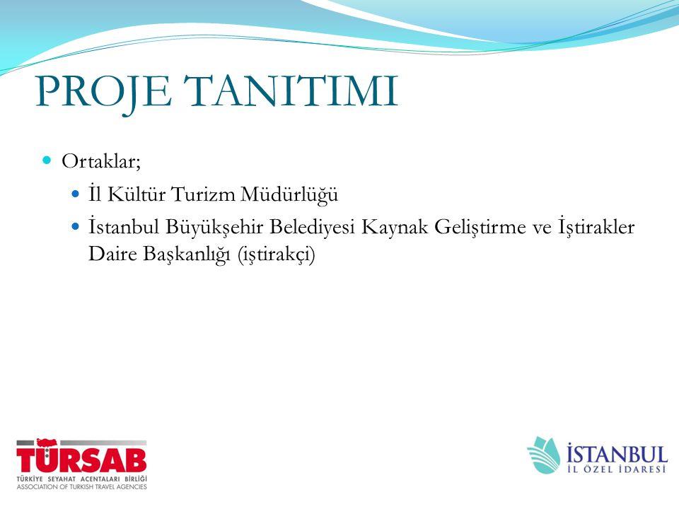 PROJE TANITIMI Ortaklar; İl Kültür Turizm Müdürlüğü İstanbul Büyükşehir Belediyesi Kaynak Geliştirme ve İştirakler Daire Başkanlığı (iştirakçi)
