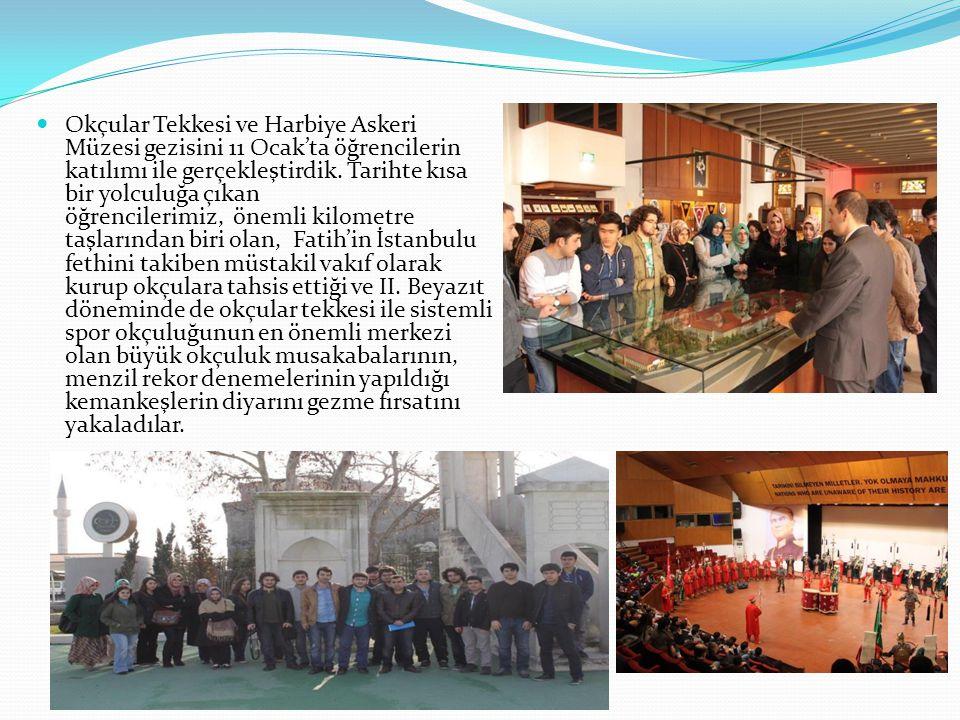 Okçular Tekkesi ve Harbiye Askeri Müzesi gezisini 11 Ocak'ta öğrencilerin katılımı ile gerçekleştirdik. Tarihte kısa bir yolculuğa çıkan öğrencilerimi