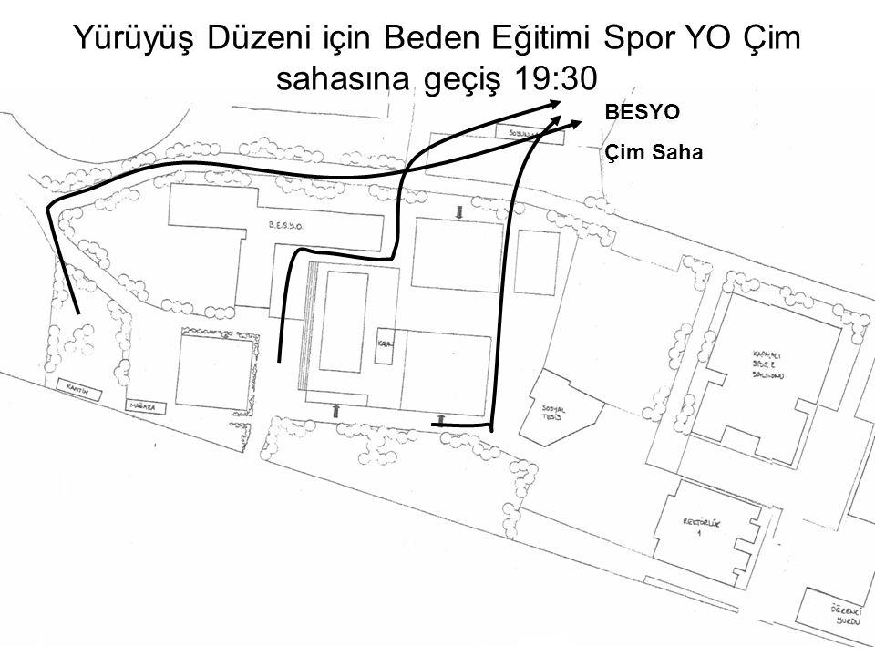 Öğretim Üyeleri Öğretim Üyelerinin Yüksekokul önünden stadyuma girmeleri, 19:40