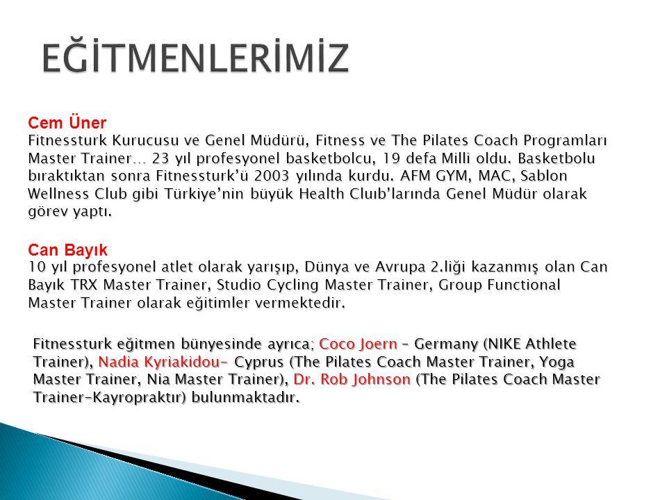 Fitnessturk eğitmen bünyesinde ayrıca; Coco Joern – Germany (NIKE Athlete Trainer), Nadia Kyriakidou- Cyprus (The Pilates Coach Master Trainer, Yoga Master Trainer, Nia Master Trainer), Dr.