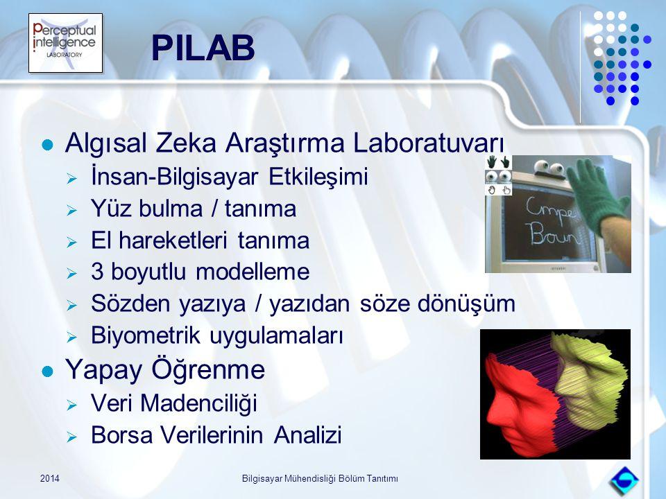 2014Bilgisayar Mühendisliği Bölüm Tanıtımı PILAB PILAB Algısal Zeka Araştırma Laboratuvarı  İnsan-Bilgisayar Etkileşimi  Yüz bulma / tanıma  El har