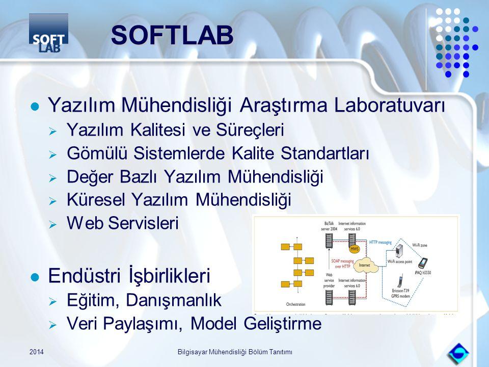 2014Bilgisayar Mühendisliği Bölüm Tanıtımı SOFTLAB SOFTLAB Yazılım Mühendisliği Araştırma Laboratuvarı  Yazılım Kalitesi ve Süreçleri  Gömülü Sistem