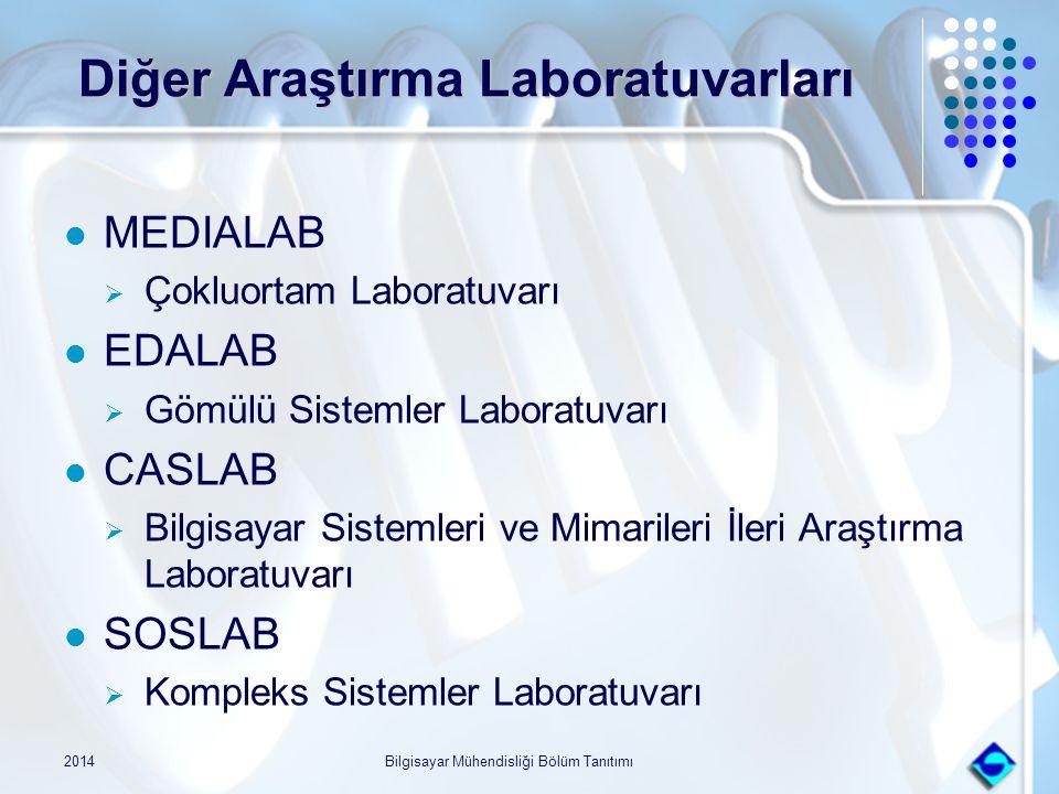 2014Bilgisayar Mühendisliği Bölüm Tanıtımı Diğer Araştırma Laboratuvarları Diğer Araştırma Laboratuvarları MEDIALAB  Çokluortam Laboratuvarı EDALAB 