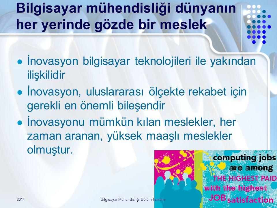 Örnek iş: Telekom mimarı Alper Yeğin 1994, BÜ CMPE mezunu 1997, UIUC CS yüksek lisans 1997-2001 Sun Microsystems  Solaris işletim sistemine TCP/IP stack geliştirme  IPv6 ve Mobile IP 2001 DoCoMo Labs  IP-temelli 4G mimarisi tasarım ekibi 2004- Samsung  WiMAX Forum'un IPv6, güvenlik, mobil IP tasarımlarında çalıştı 2005 Türkiye'ye dönüş  WiMAX Forum güvenlik mimari grubu başkanlığı 2009 ODAKK : kendi şirketi 2014Bilgisayar Mühendisliği Bölüm Tanıtımı