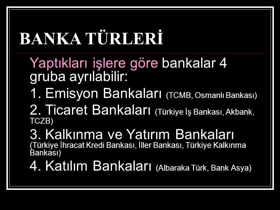 1.Bankacılık Kanunu (5411 sayılı) 2. Genel Hükümler (TMK, TTK, İİK, TKHK) 3.