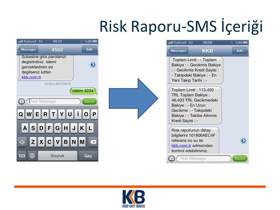 Risk Raporu-SMS İçeriği