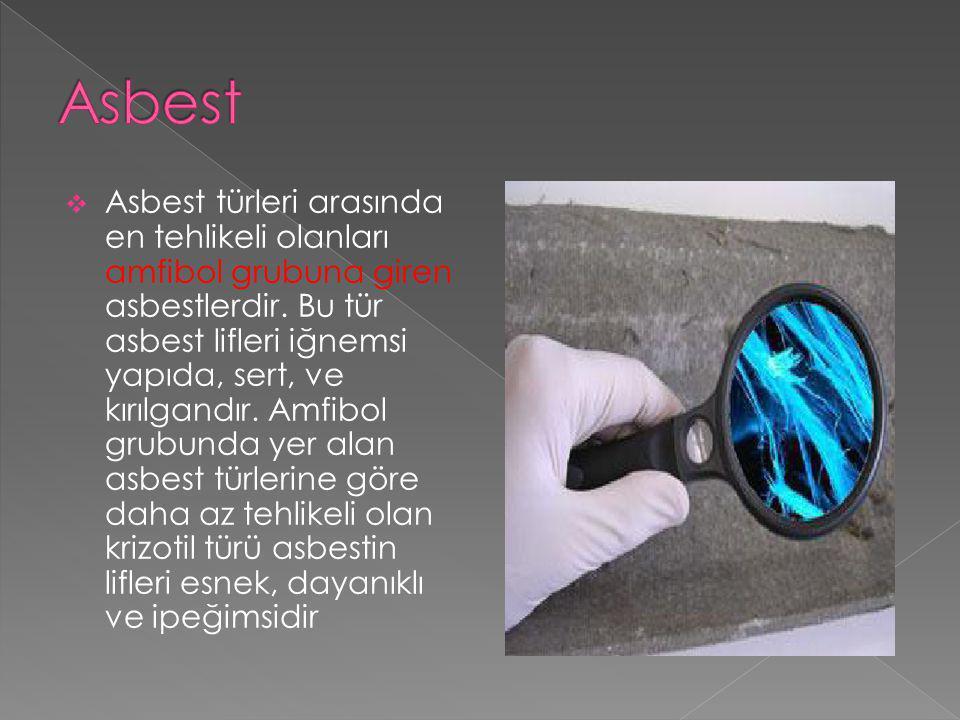  Asbest veya asbestli malzemeyle yapılan çalışmalarda aşağıdaki önlemler alınacaktır.