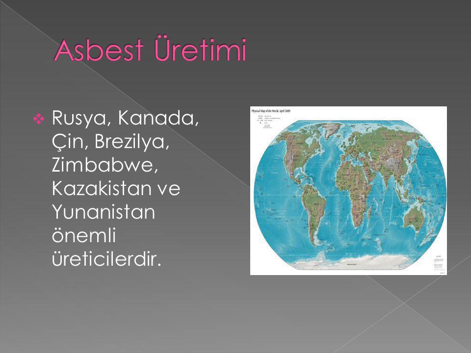  Asbest vücuda solunum ve sindirim yoluyla alınmaktadır.