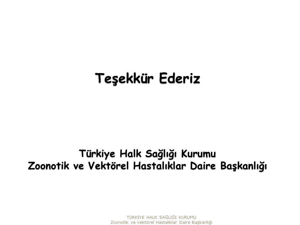 Teşekkür Ederiz Türkiye Halk Sağlığı Kurumu Zoonotik ve Vektörel Hastalıklar Daire Başkanlığı TÜRKİYE HALK SAĞLIĞI KURUMU Zoonotik ve Vektörel Hastalıklar Daire Başkanlığı