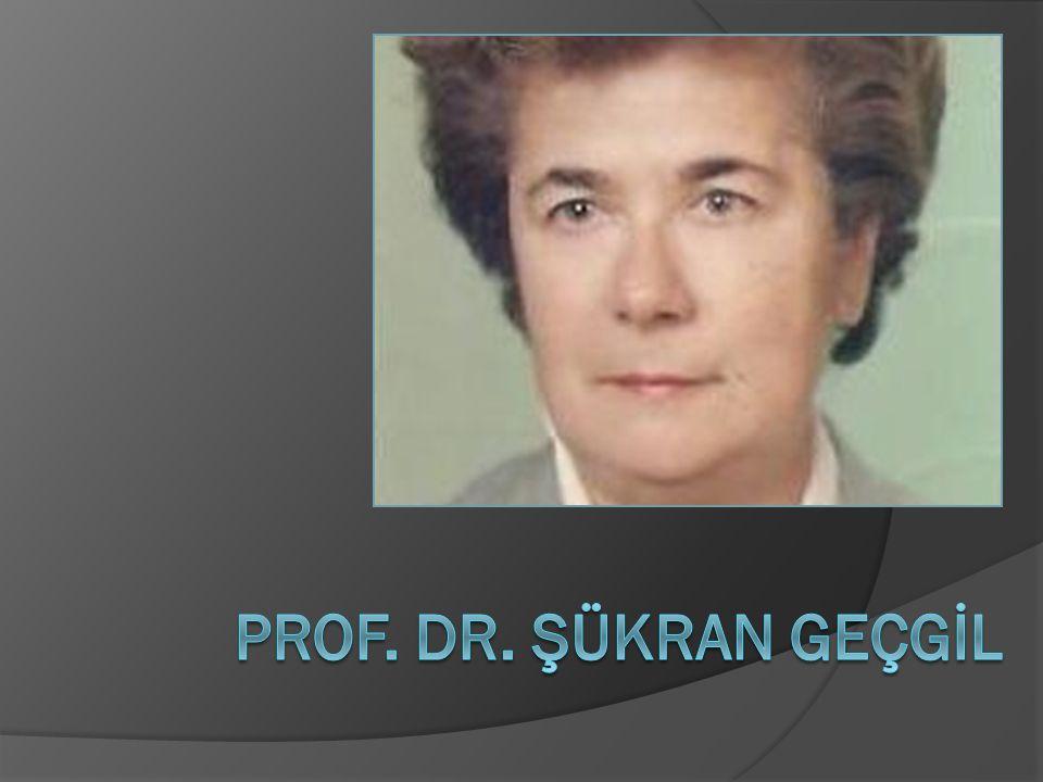 25 Nisan 2003 tarihinde eşi Ecz. H.Tuluğ Geçgil'i kaybetti