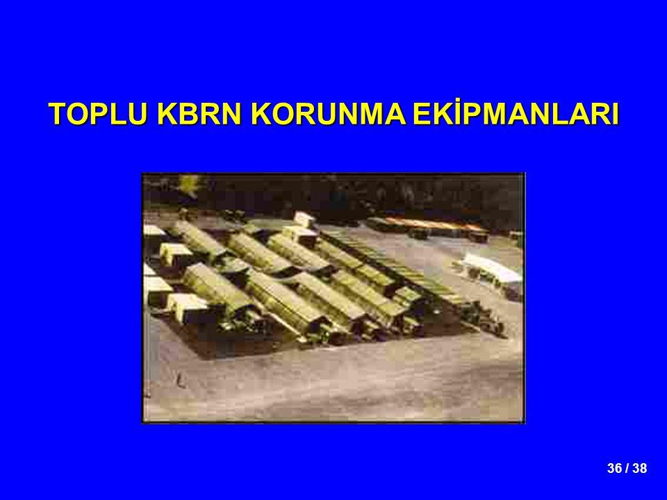 36 / 38 TOPLU KBRN KORUNMA EKİPMANLARI