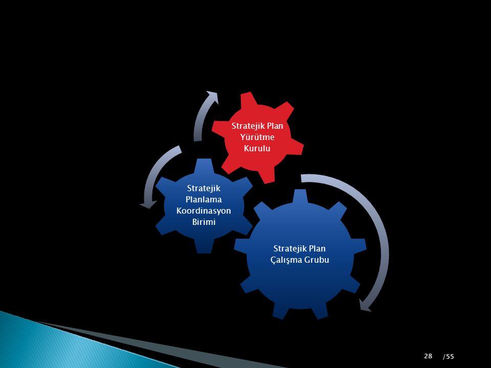 Stratejik Plan Çalışma Grubu Stratejik Planlama Koordinasyon Birimi Stratejik Plan Yürütme Kurulu 28 /55