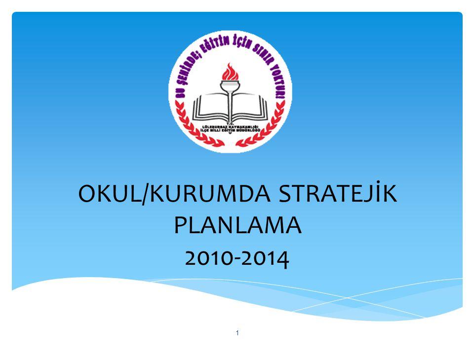OKUL/KURUMDA STRATEJİK PLANLAMA 2010-2014 1