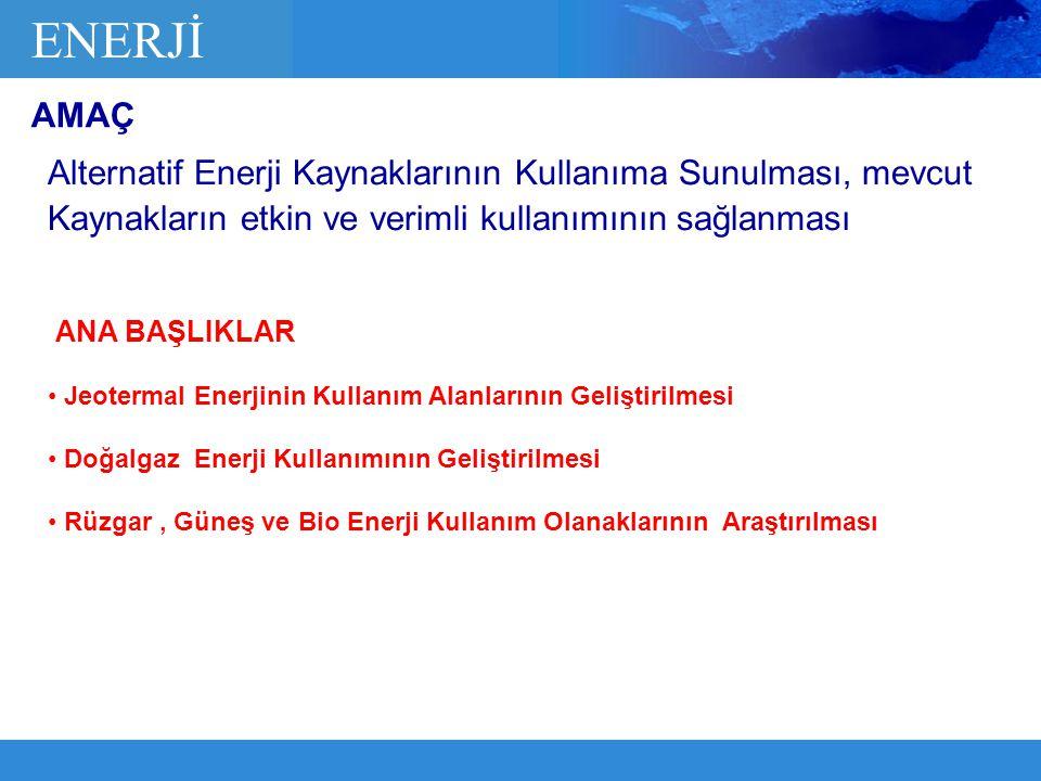 Alternatif Enerji Kaynaklarının Kullanıma Sunulması, mevcut Kaynakların etkin ve verimli kullanımının sağlanması ENERJİ Jeotermal Enerjinin Kullanım A