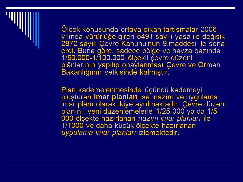 Ölçek konusunda ortaya çıkan tartışmalar 2006 yılında yürürlüğe giren 5491 sayılı yasa ile değişik 2872 sayılı Çevre Kanunu'nun 9.maddesi ile sona erdi.